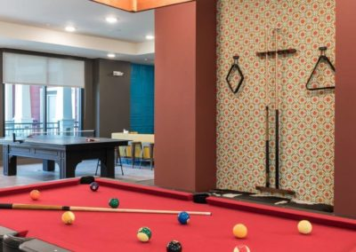 A pool table at the Gateway on Cullen
